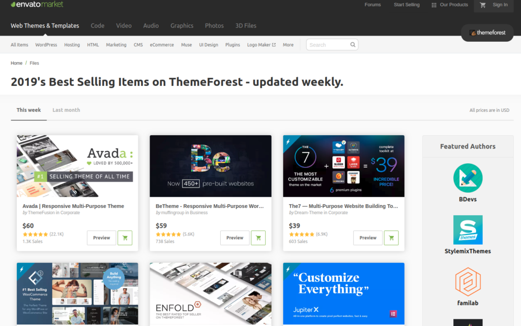 web scraping - themeforest top seller listing.
